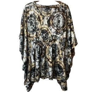 Lane Bryant Plus size tie dye bat wing blouse